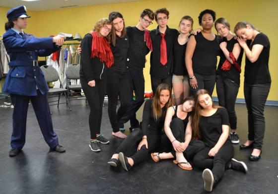 Ptite troupe sénior en répet 2016